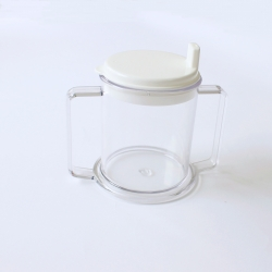 Drinking Aid Two Handles Mug with Spouted Lid_副本