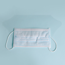 face mask with anti fog shield
